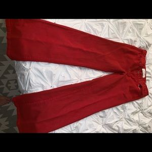 Red Wide leg jeans